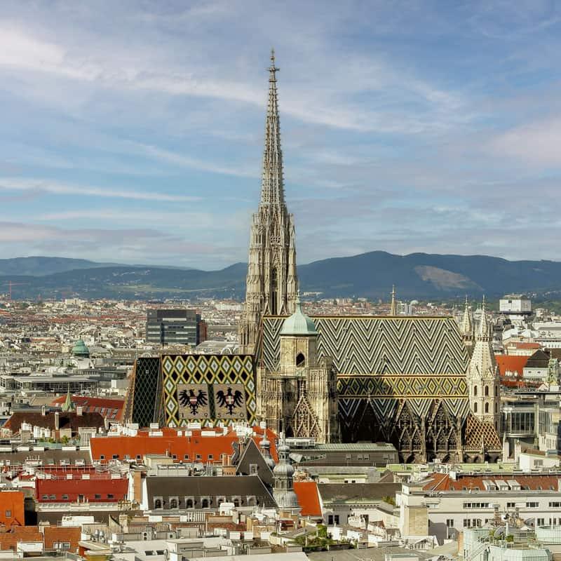 Aufnahme vom Stephansdom in Wien