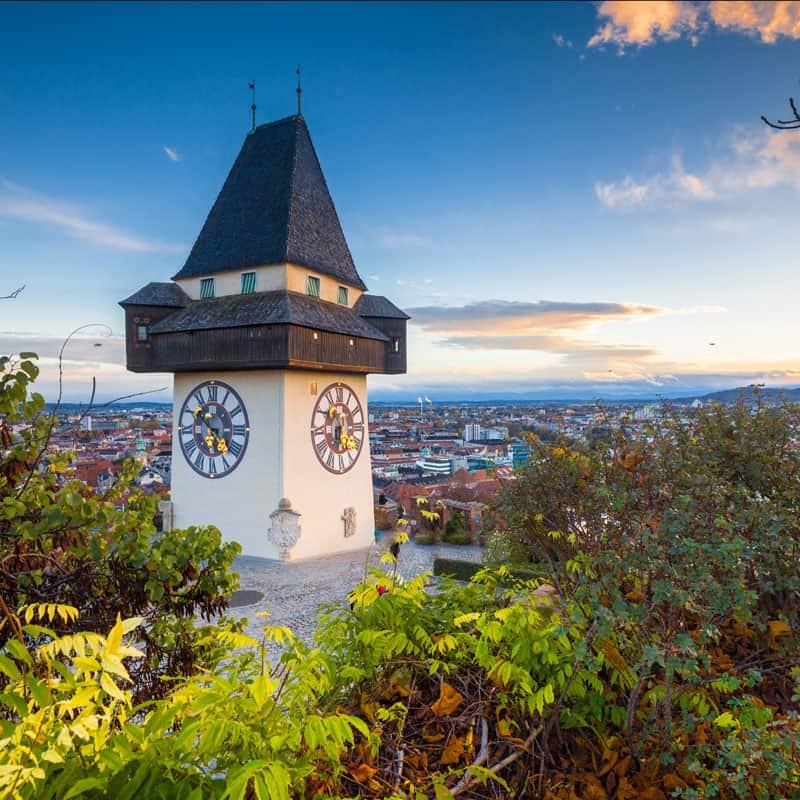 Aufnahme vom Uhrturm Graz